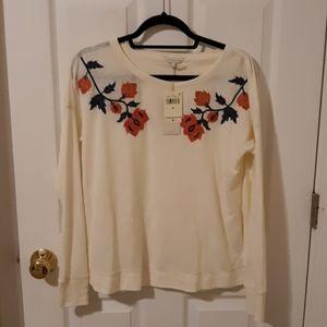 Offwhite floral embellished shirt
